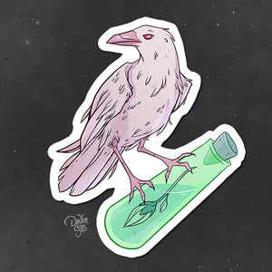 White Crow ☾ Vinyl Sticker