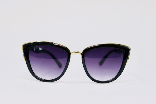 Exagerrated Cat Eye Sunglasses -Black-Sunglasses-Honey Honey Shop