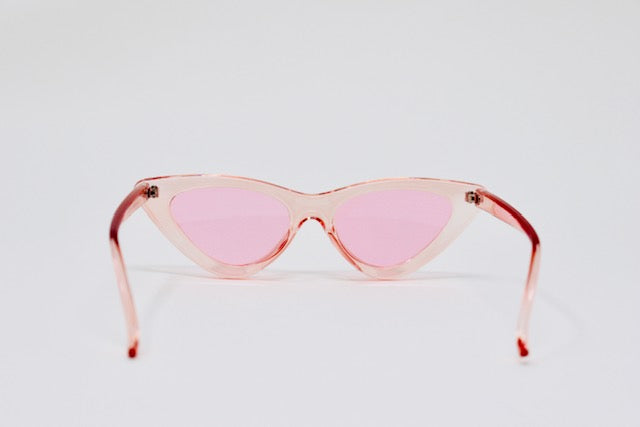 Retro Cat Eye- Pink-Sunglasses-Honey Honey Shop