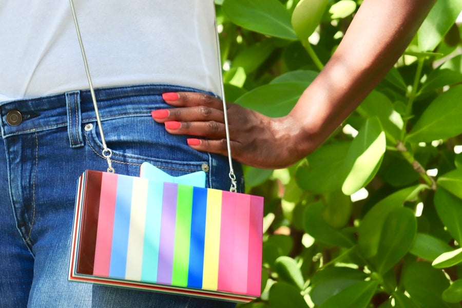 Sweet Thing Multicolor Clutch-CLUTCHES-Honey Honey Shop