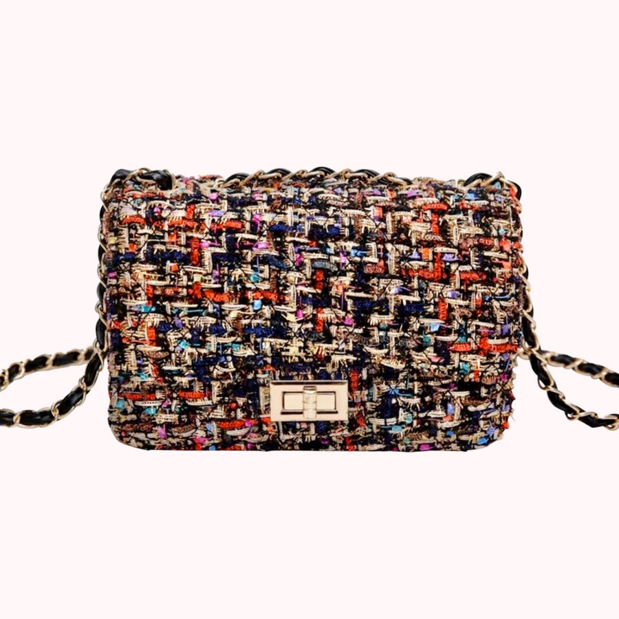 Multicolor Vintage Tweed Bag