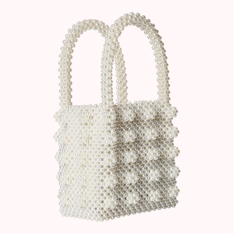 Mother of Pearl- White-HANDBAGS-Honey Honey Shop