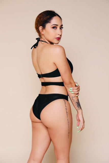 Hang Tight Mesh One Piece - Black-Swimsuit-Honey Honey Shop