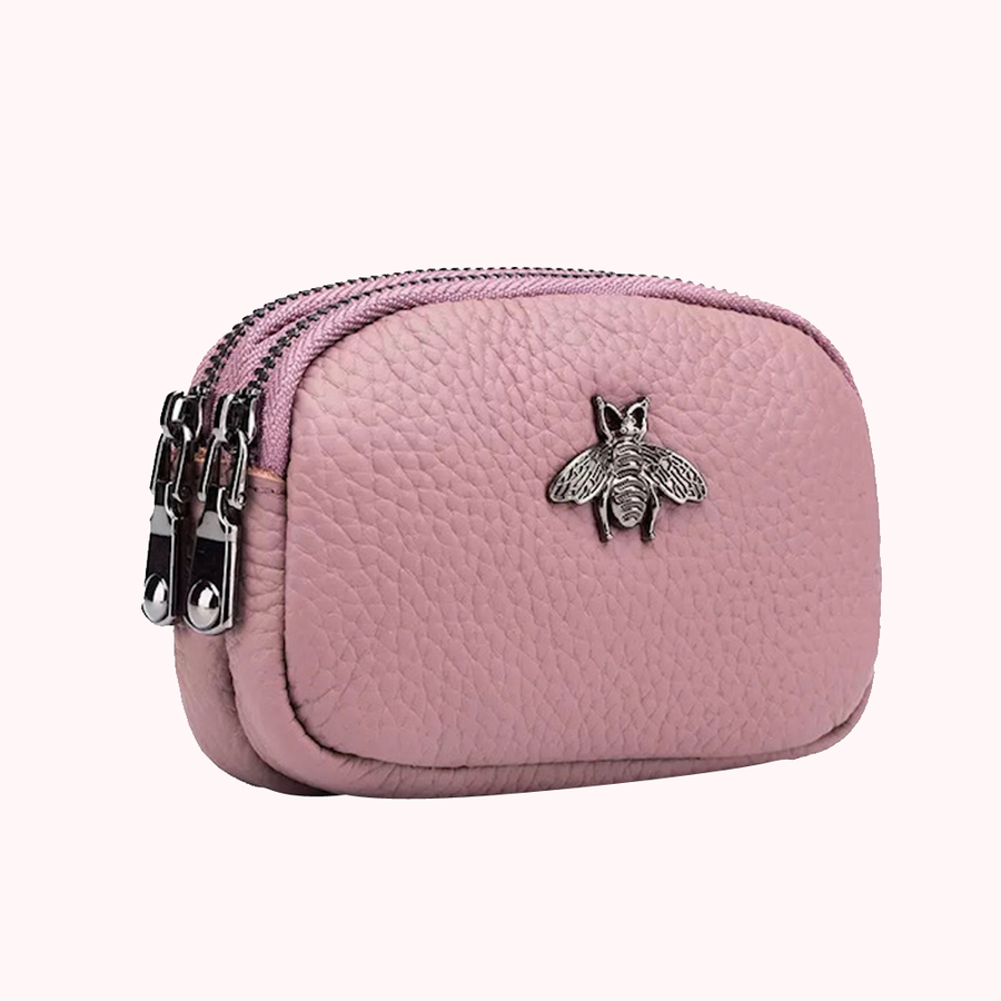 Bee You Pink Wallet-WALLETS-Honey Honey Shop