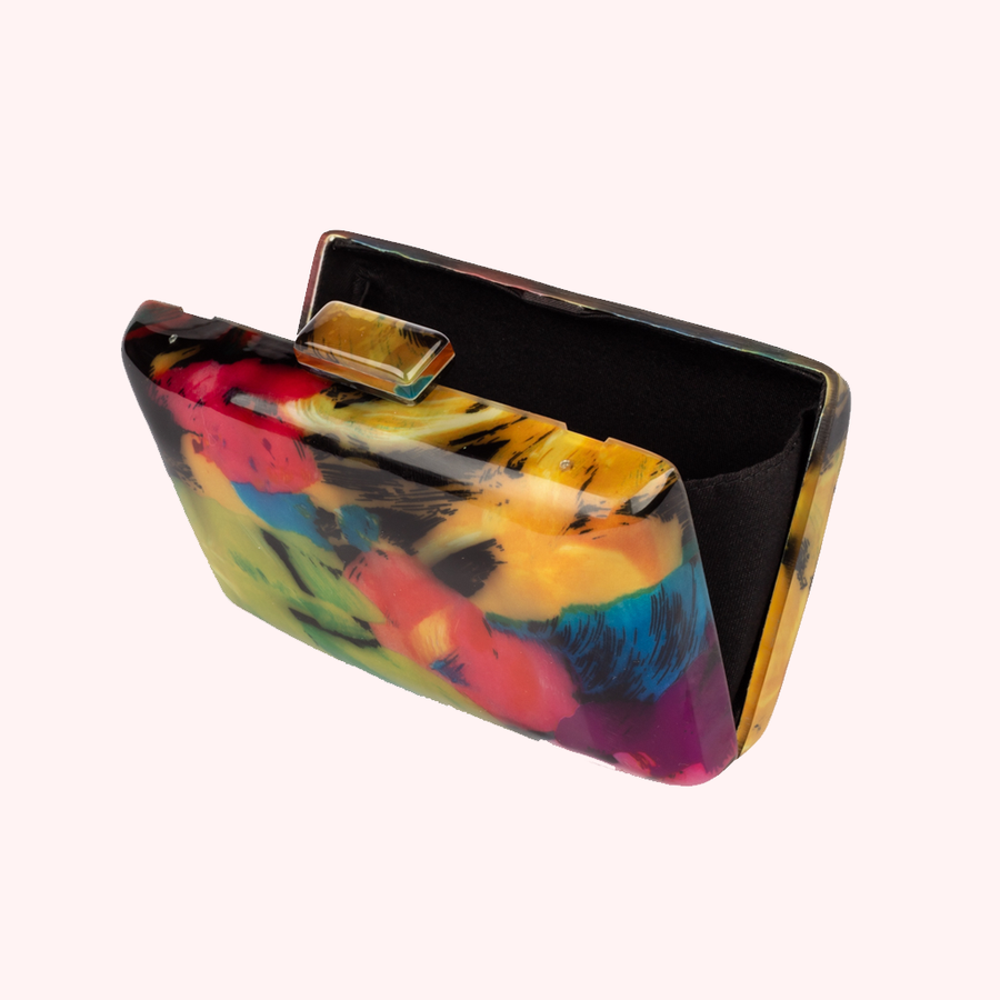 Allnighter Multicolor Clutch-CLUTCHES-Honey Honey Shop