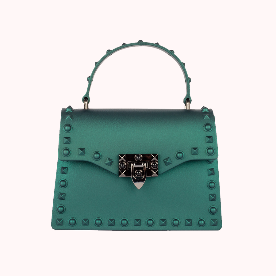 Fast Lane Green Handbag-HANDBAGS-Honey Honey Shop