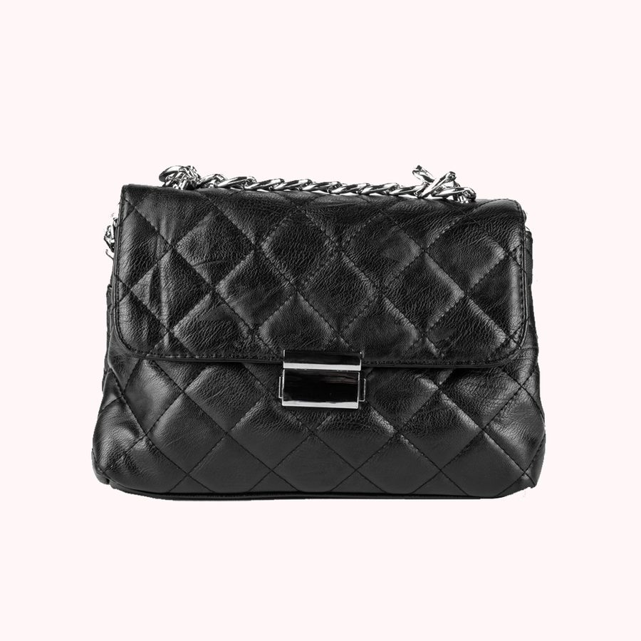 Luxe Black Handbag-HANDBAGS-Honey Honey Shop