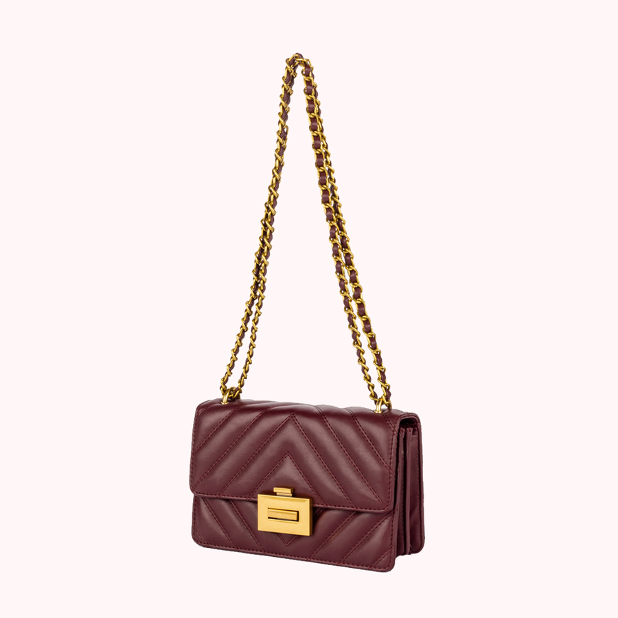 Spotlight Wine Handbag-HANDBAGS-Honey Honey Shop