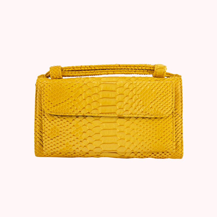 Spotlight Yellow Wallet-WALLETS-Honey Honey Shop