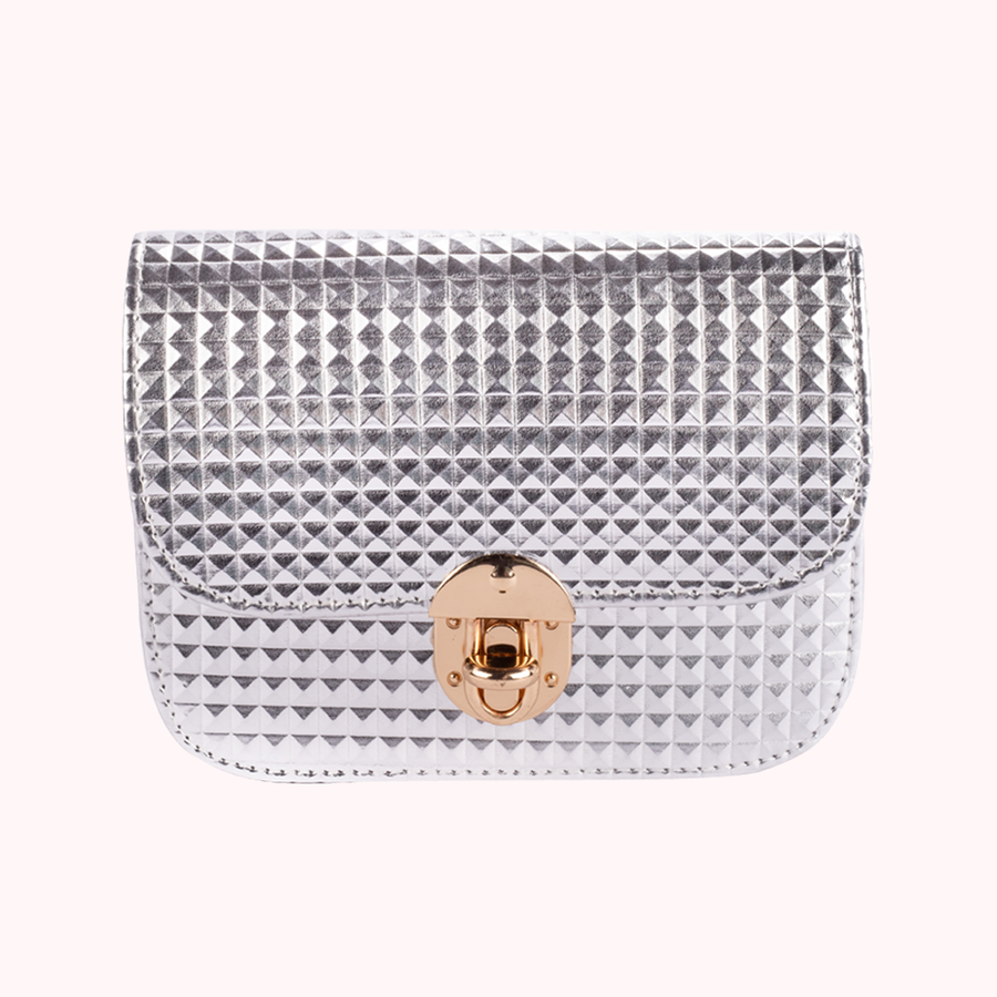 Wanderlust Silver Handbag-HANDBAGS-Honey Honey Shop