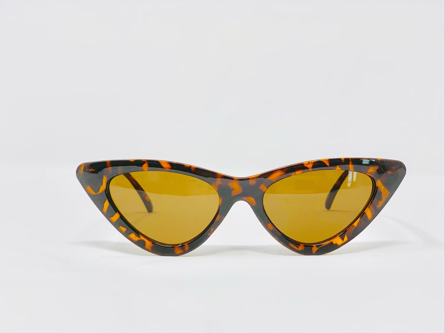 Retro Cat Eye- Leopard-Sunglasses-Honey Honey Shop