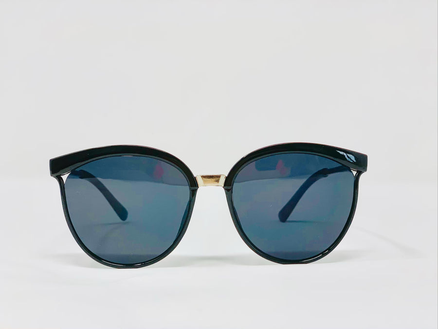 Black Aviator Sunglasses - Black-Sunglasses-Honey Honey Shop