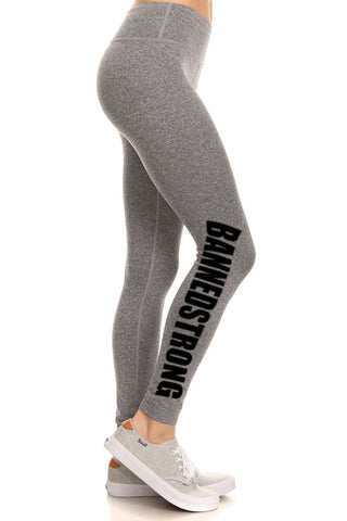 BannedStrong Leggings - Heather Grey