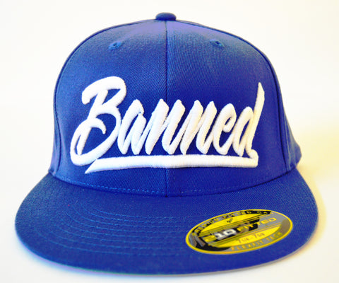 Banned Script Fitted - Blue