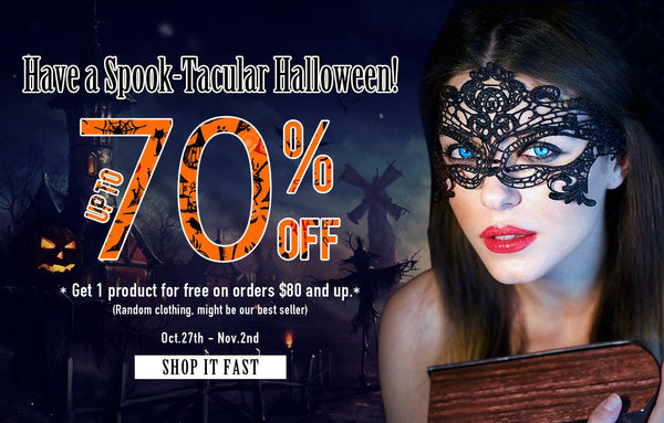 Halloween Blog sale with free product
