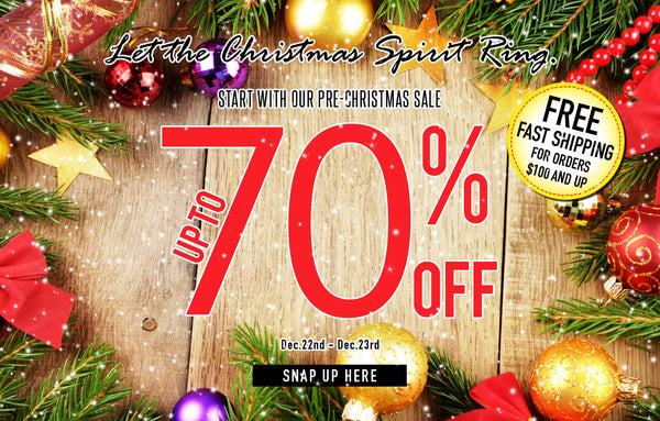 Christmas Sale with 70% off