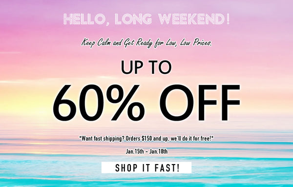 Long weekend sale image banner