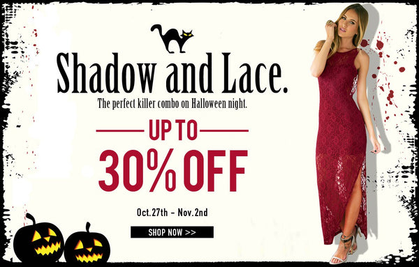 Lace collection Halloween sale