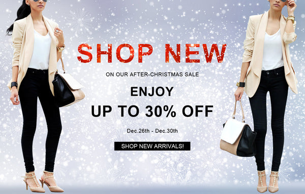 new arrivals on sale on our After-Christmas sale