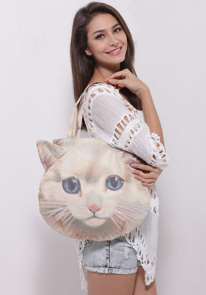 3D Cat Shoulder Bag Purse Attractive 3D Cat Design