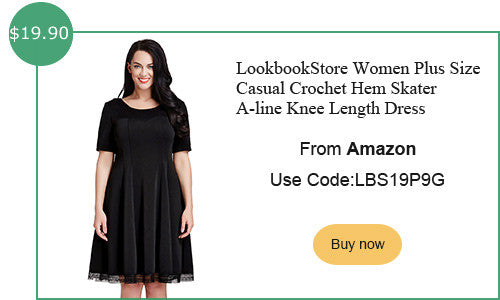 lookbookstore plus size crochet hem skater dress