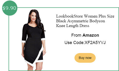 LookbookStore plus size asymmetric dress