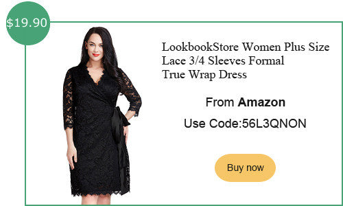 lookbookstore plus size lace true wrap dress