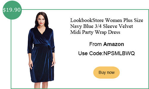 Lookbookstore plus size velvet wrap dress