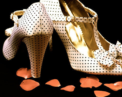 Dotted Heeled Mary Janes