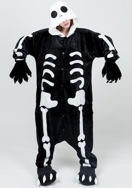 Skeletal flannel jumpsuit