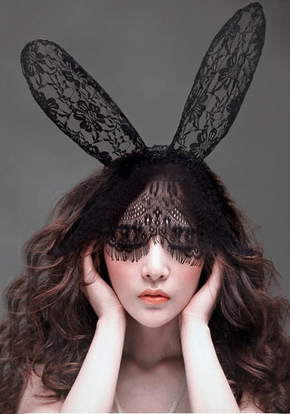 Big bunny ears fascinator