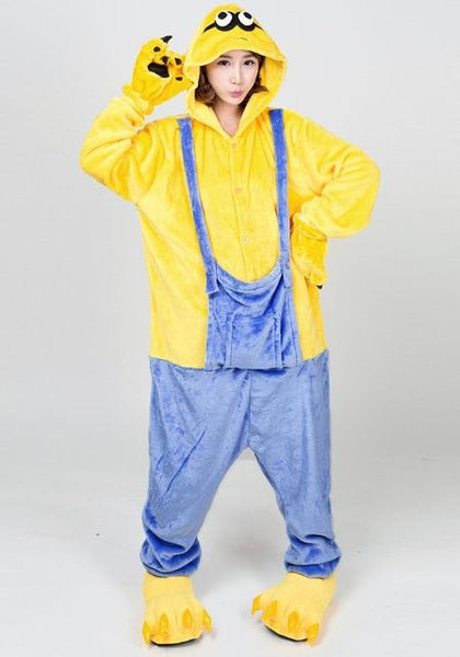 Minion flannel jumpsuit
