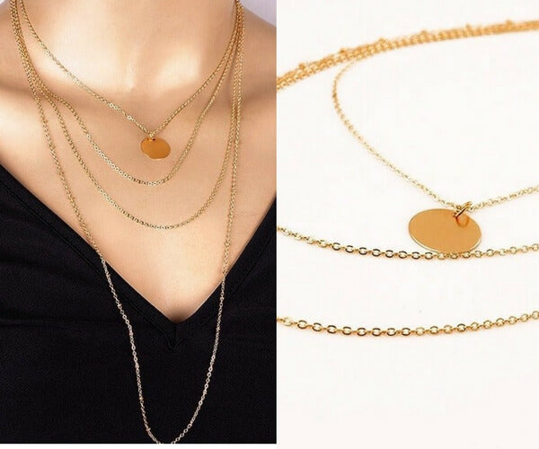 Gold Four-Row Layered Necklace
