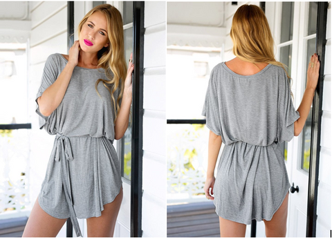 Grey T-Shirt Dress | Lookbook Store
