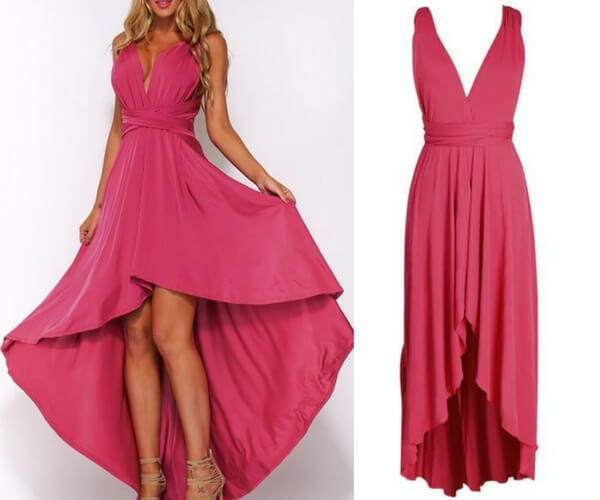 Hot Pink High-Low Magic Dress