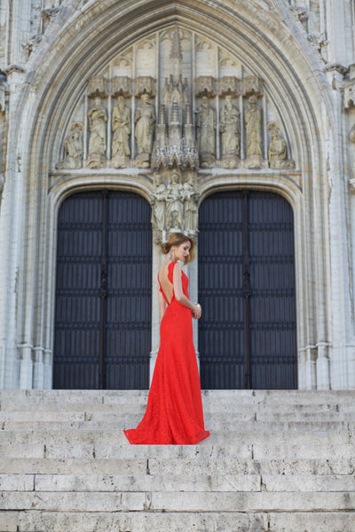 Ruxandra looking gorgeous in a red gown