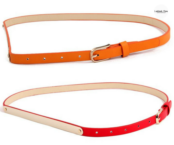 Slim Gold Waist Belt | Lookbook Store