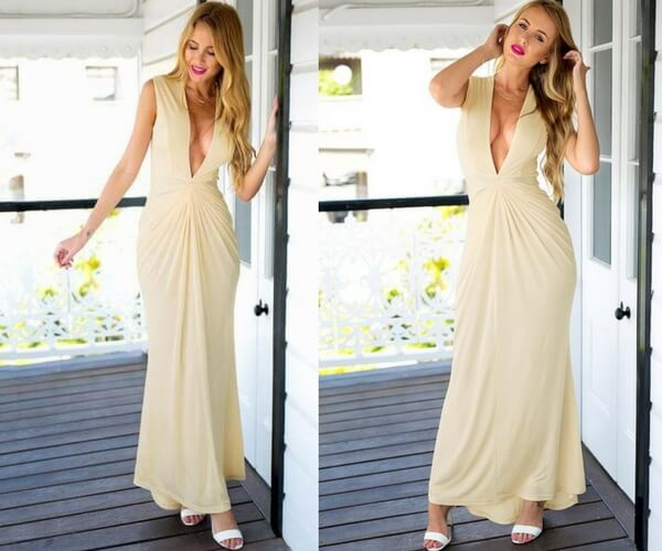 Vanilla Grecian-Inspired Gown