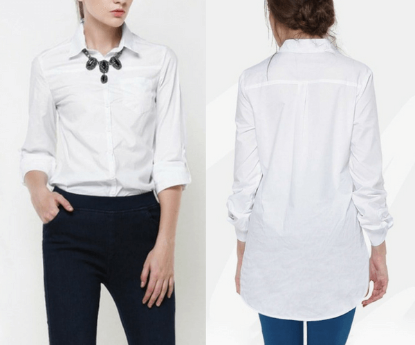 White Classic Button-Down Shirt | Lookbook Store