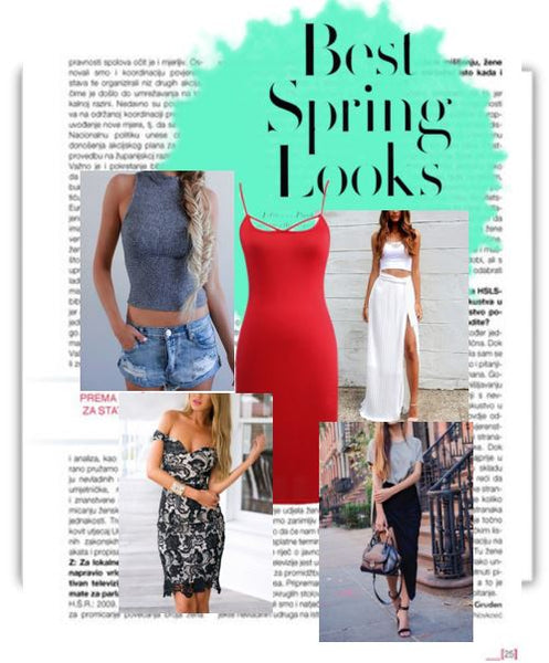 collage of best spring looks for 2016