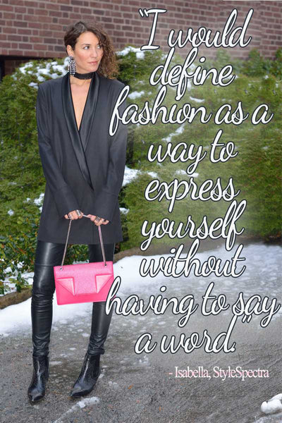 Isabella of StyleSpectra with a style quote