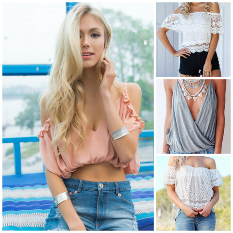 215543e534bad8 Cropped and cami-styled tops are spring staples ever since. Stand out among  party-goers by choosing those with plunging V necklines