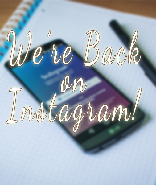 we're back on instagram blog image