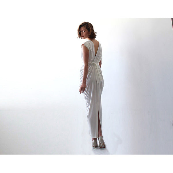 White Evening Maxi Dress