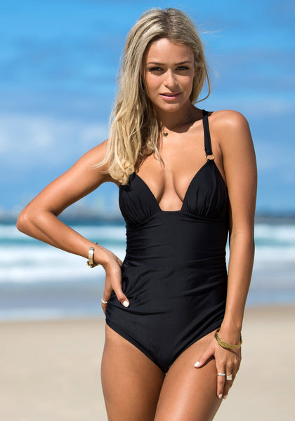Back Cross Black - Head Turning Swimsuit