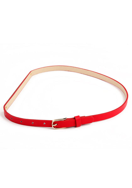 Slim Gold Waist Belt - Adjustable Fit Belt