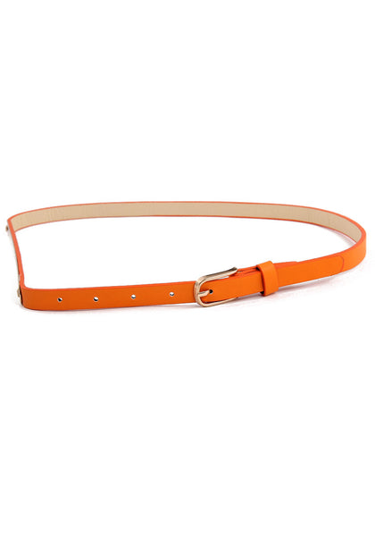 Slim Gold Waist Belt - Candy Colored Belt