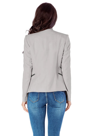 Grey Draped Blazer