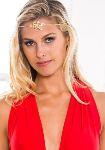 Gold Rose Boho Headpiece
