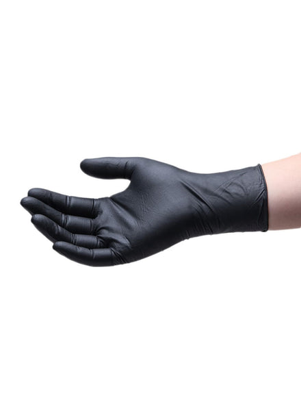 Black nitrile waterproof disposable gloves